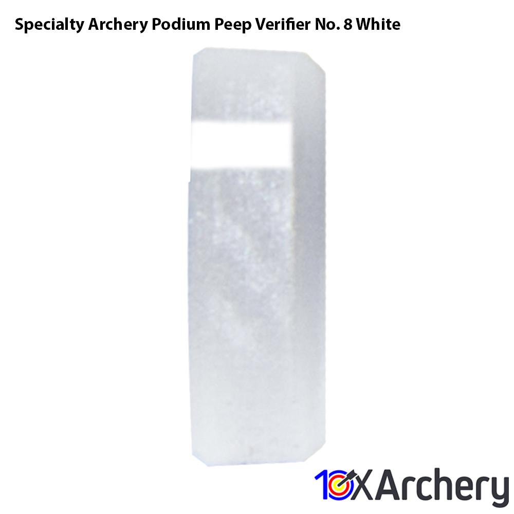Specialty Archery Podium Peep Verifier No. 8 White - Archery