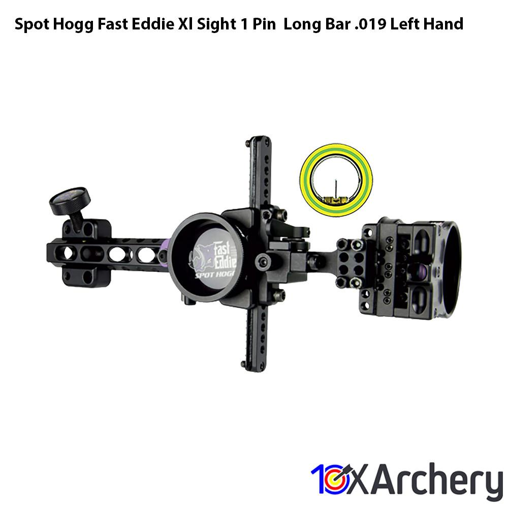 Spot Hogg Fast Eddie Xl Sight 1 Pin  Long Bar .019 Left Hand - Hunting Sights