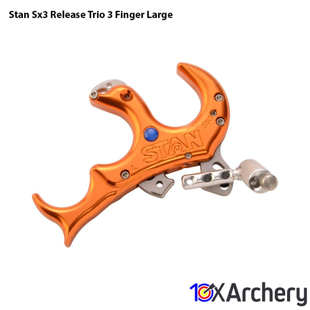 Stan Sx3 Release Trio 3 Finger Large - Archery