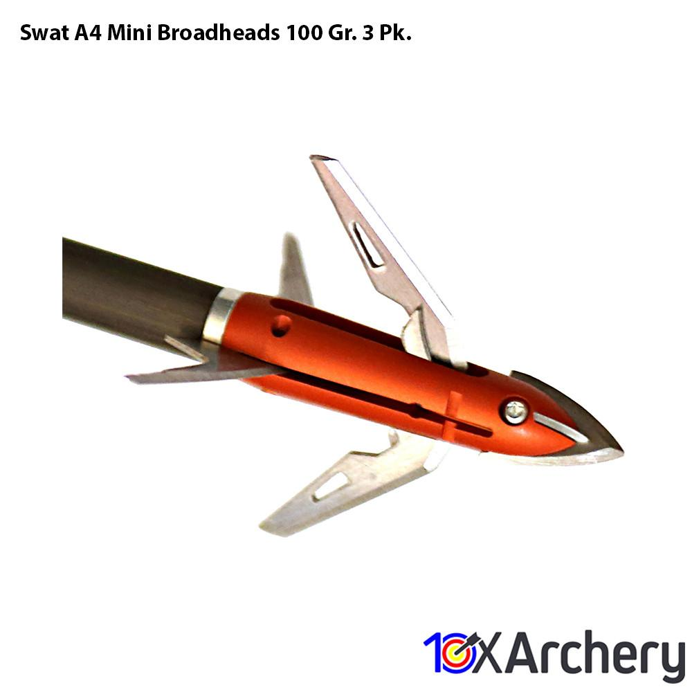 Swat A4 Mini Broadheads 100 Gr. 3 Pk. - Archery
