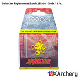 Swhacker Replacement Bands 2 Blade 100 Gr. 18 Pk. Archery Swhacker