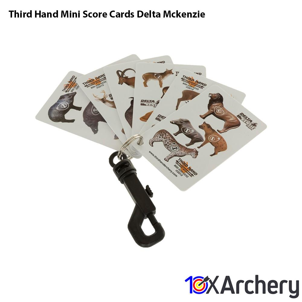 Third Hand Mini Score Cards Delta Mckenzie - 10xArchery