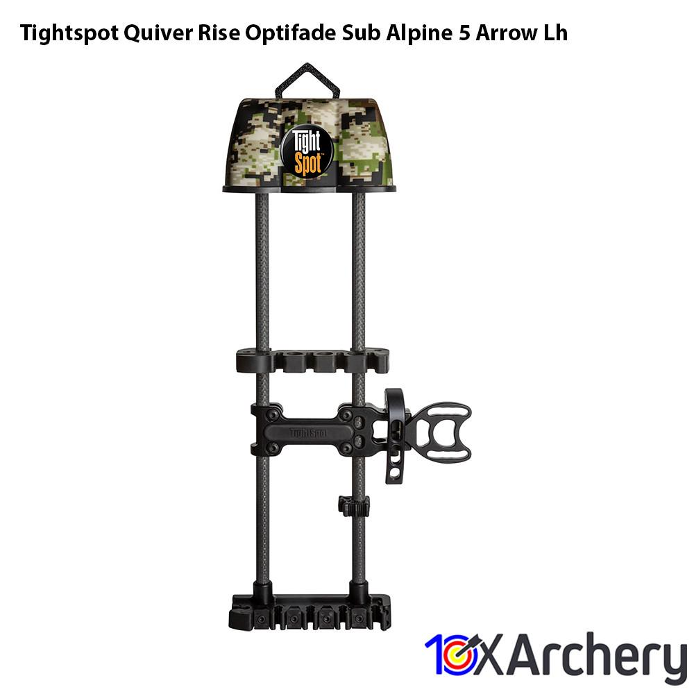 Tightspot Quiver Rise Optifade Sub Alpine 5 Arrow Lh - Archery