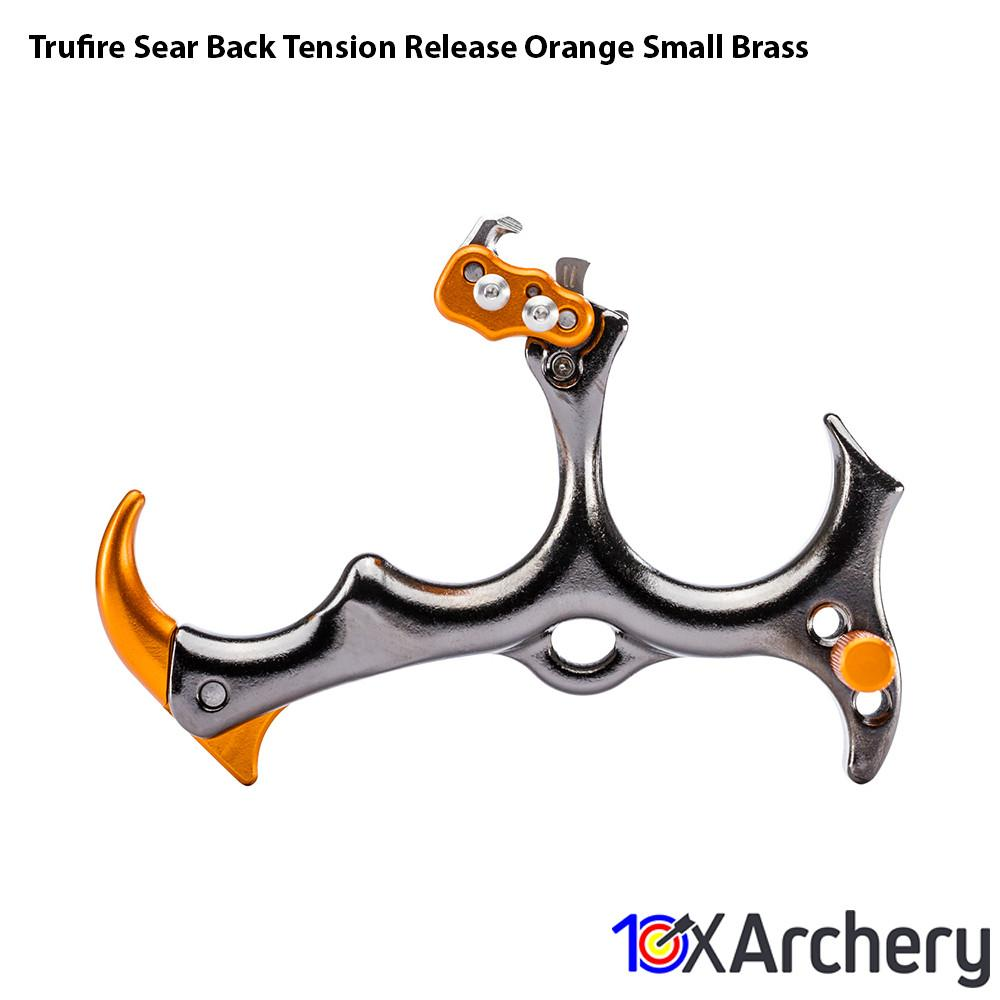 Trufire Sear Back Tension Release Orange Small Brass - Back Tension Releases