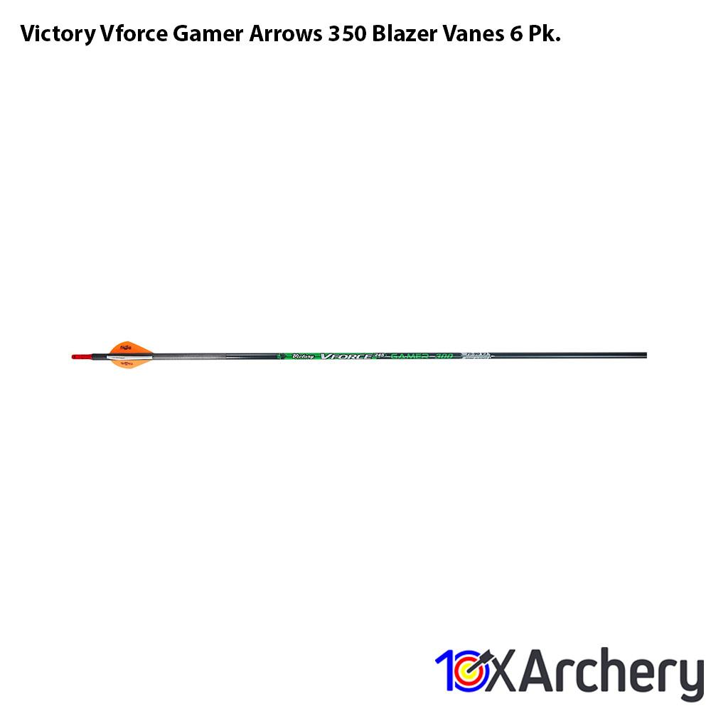 Victory Vforce Gamer Arrows 350 Blazer Vanes 6 Pk. - 10xArchery
