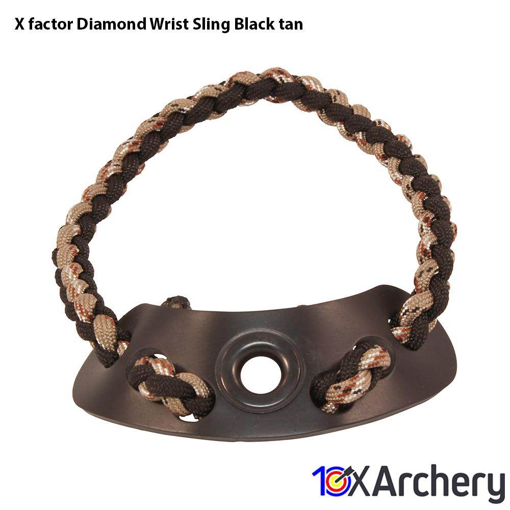 X-factor Diamond Wrist Sling Black/tan - 10xArchery
