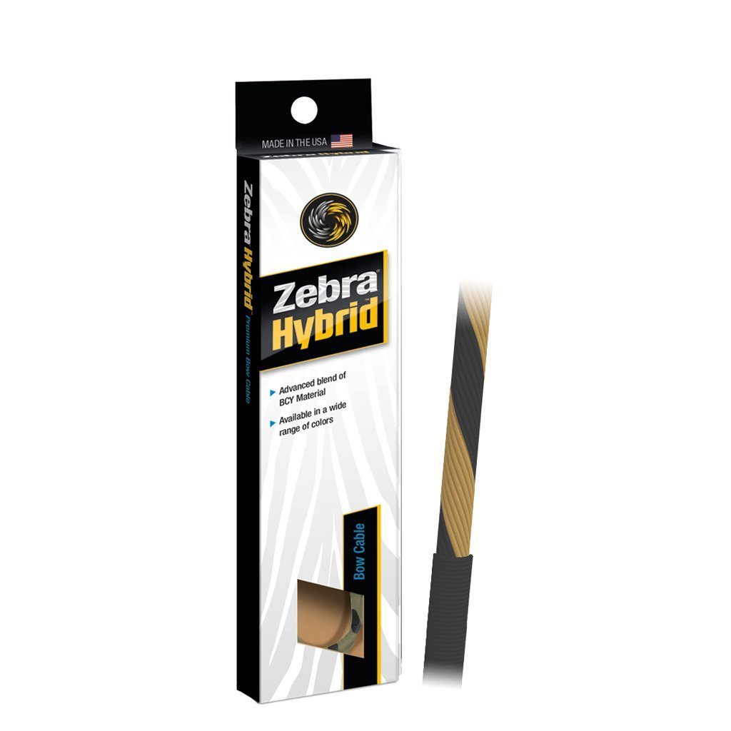 Zebra Hybrid Control Cable Tan/black 35 1/4 In. - 10xArchery