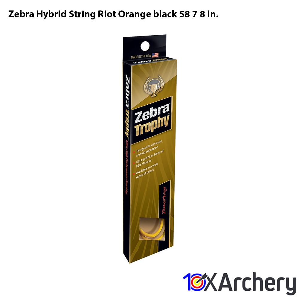 Zebra Hybrid String Riot Orange/black 58 7/8 In. - Archery