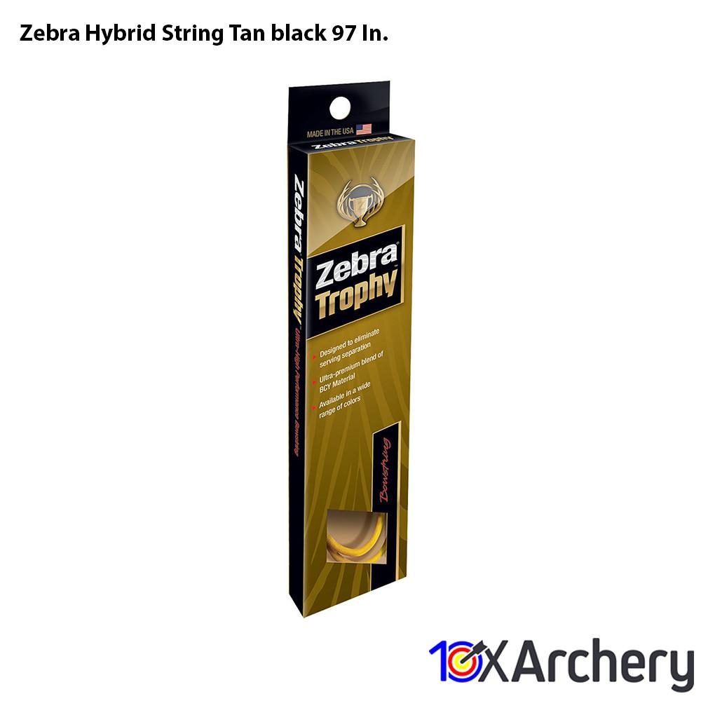Zebra Hybrid String Tan/black 97 In. - Archery
