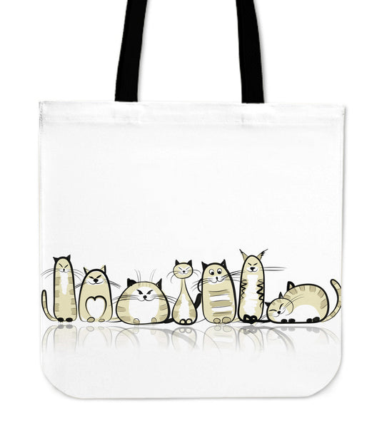 Funny Cat II Cloth Tote Bag