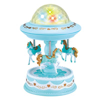 Starry Light Night Carousel Music Box