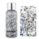 Diamond Sequins Eyeshadow Shimmer Glitter Nail Hair Body Face Glitter Gel Art Mermaid Flash Cream Sequins Festival Party Makeup