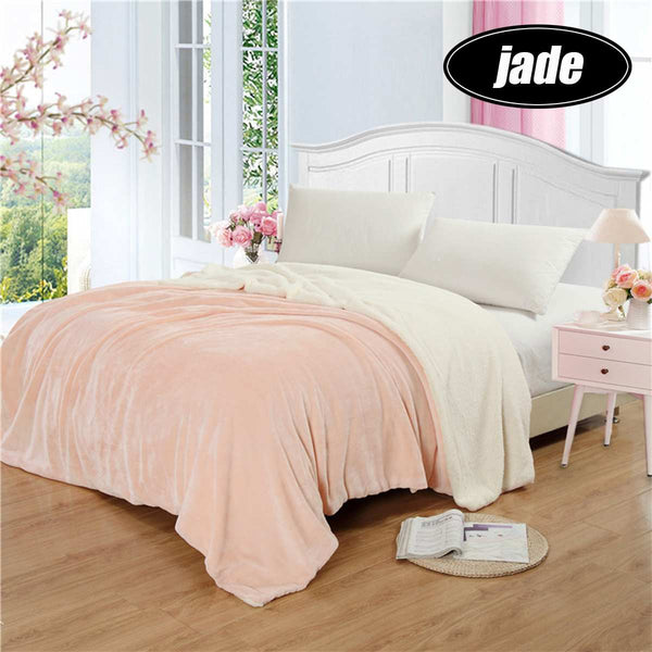 Super Warm Weighted Blanket Double layer flannel thick blanket For Beds Fleece Blankets and Throws Winter Adult bed cover