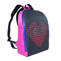 mesh wifi pixel backpack with LED screen pixel smart backpacks pixel screen led backpack women mochila men