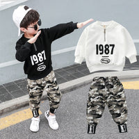 2PC Kids Big Boys Military Clothes