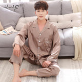 Satin Silk Pajamas Couple Sets