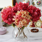 Bundle Silk Hydrangea Autumn Vase
