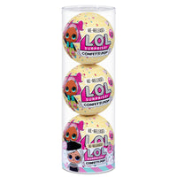 L.O.L. Surprise! Confetti Pop 3 Pack Beatnik Babe - 3 Re-released Dolls Each with 9 Surprises