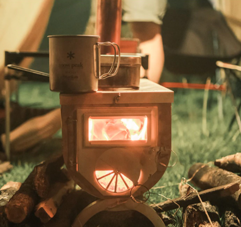 Portable Tent Wood Stove With Storage Bag