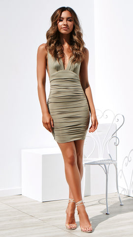 Anastasia Dress - Khaki