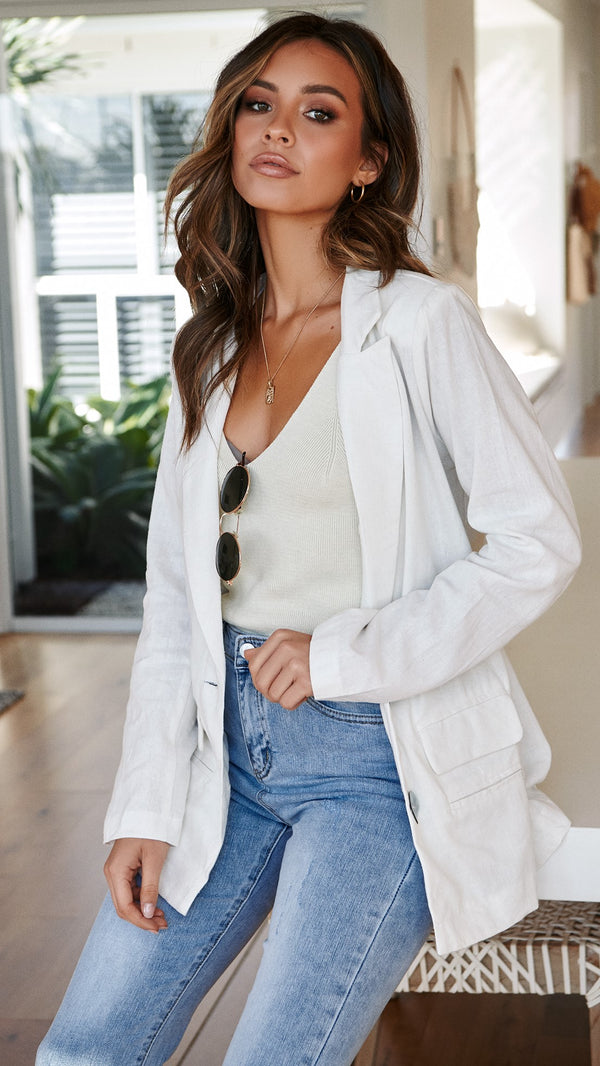 Harriet Blazer - White