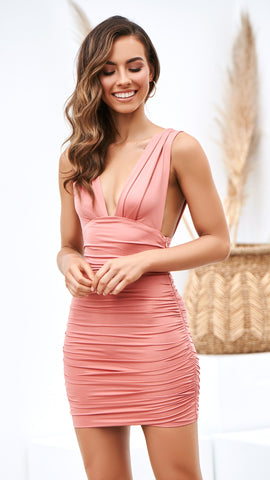 Anastasia Dress - Rose