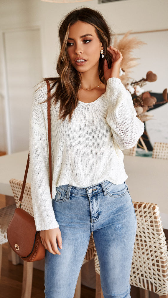 Tulum Knit - White