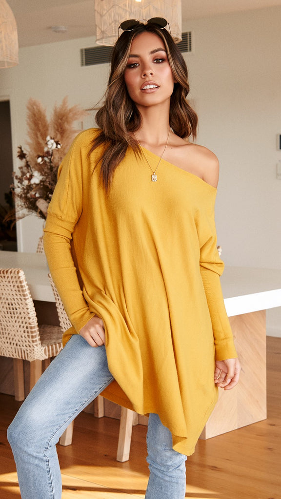 Warrior Knit Top - Mustard