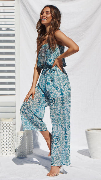 Heartstrings Jumpsuit - Teal