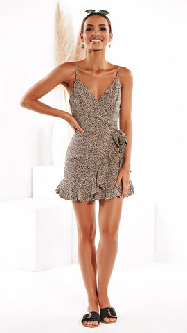 Some Like it Hot Dress - Beige