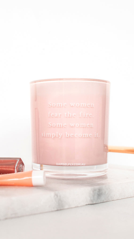 Some Women Fear The Fire Candle - Blush