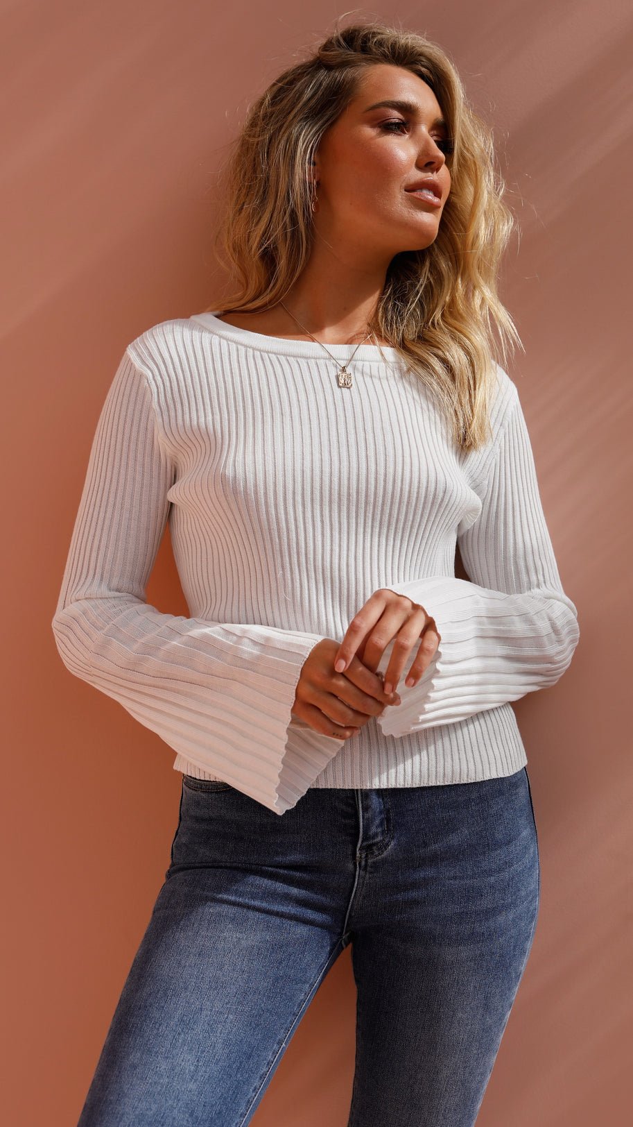 Rhapsody Knit Top - White