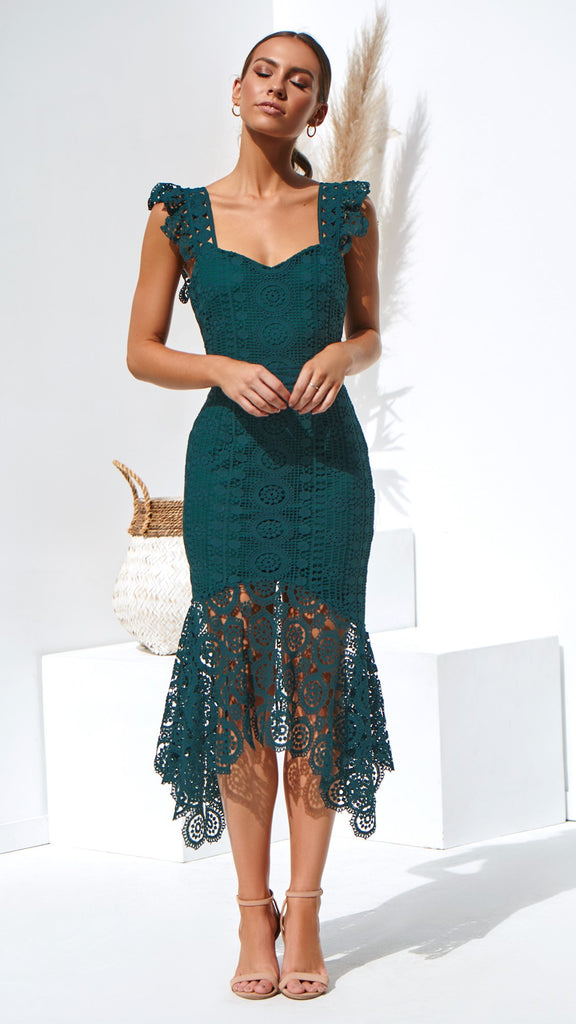 137e798a8c7a Giselle Dress - Emerald Green