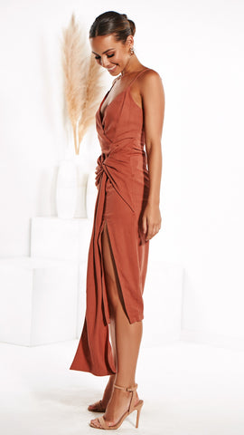 Rhemi Dress - Rust