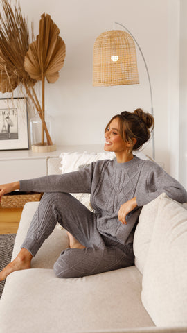 San Jose Knit Set - Grey