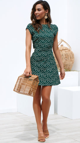 Spice Dress - Forest Green