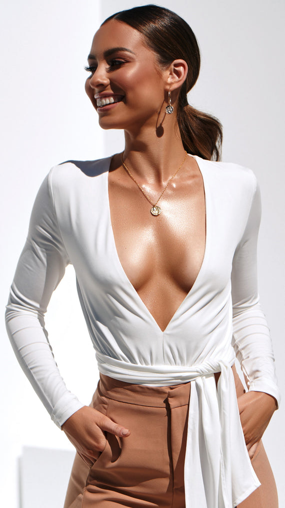 Love Lies Bodysuit - White