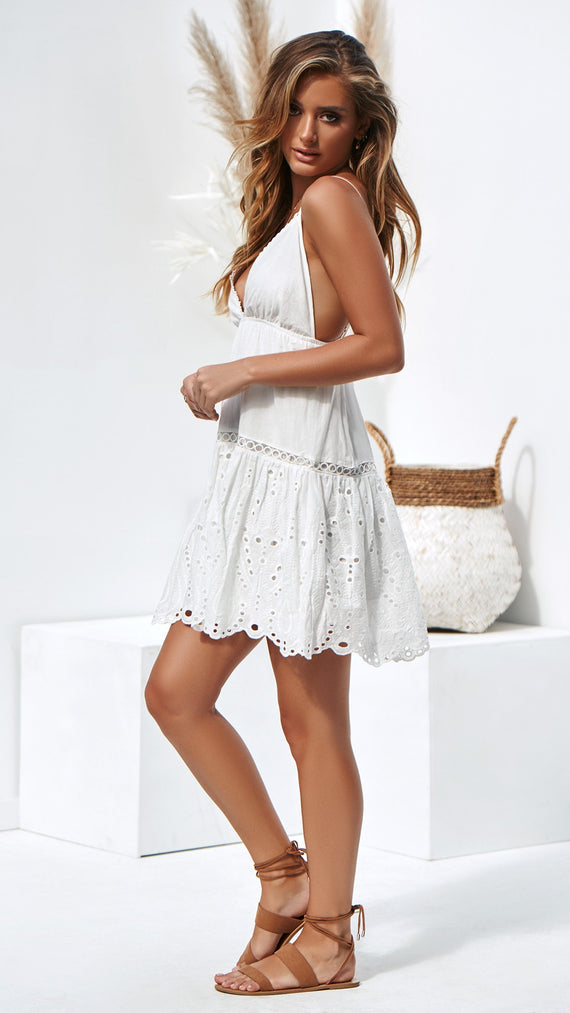 Young Love Dress - White