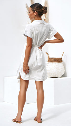 Louisa Dress - White