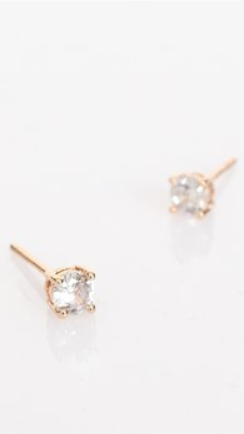 CZ MINI STUD EARRINGS - GOLD/CRYSTAL