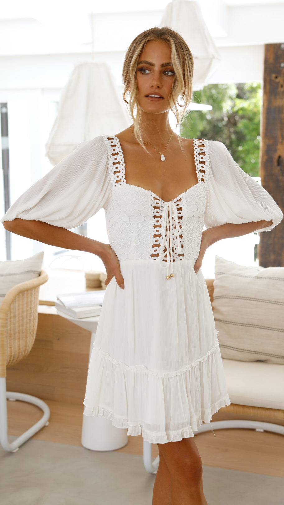 Josie Dress- White