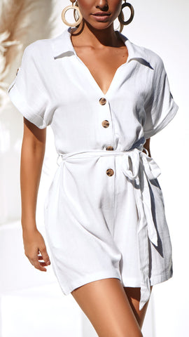 Whitsunday Playsuit - White