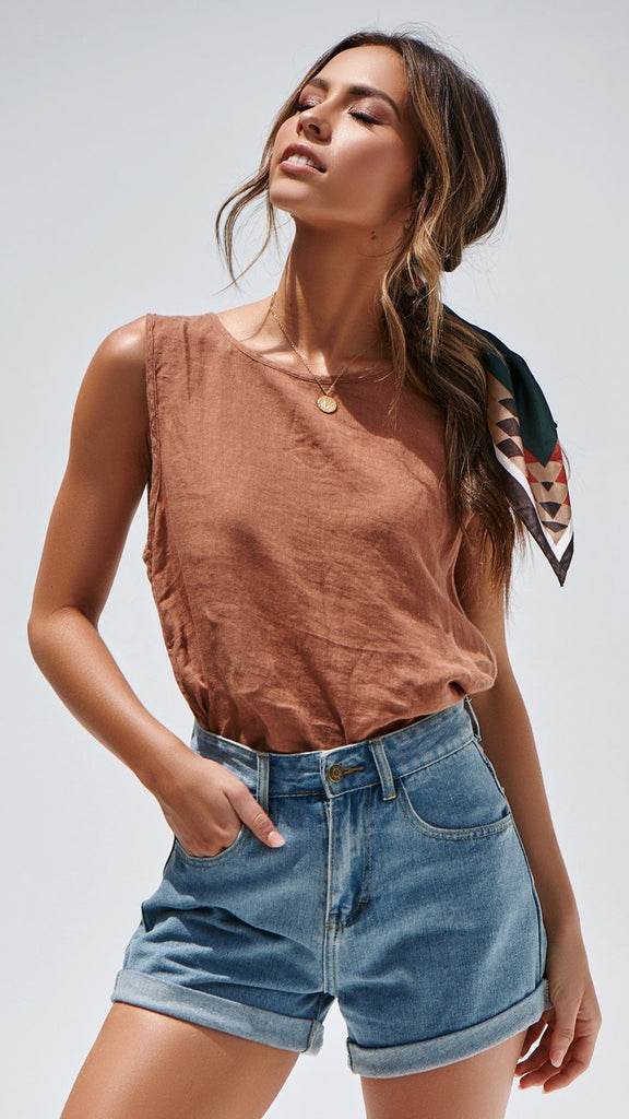 Sun Kissed Top - Rust