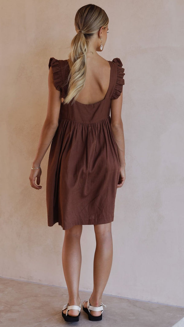 Josifine  Dress - Chocolate