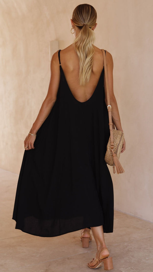 Tamison Midi Dress - Black