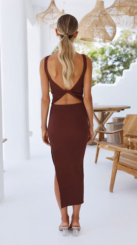 Viviana Dress - Brown