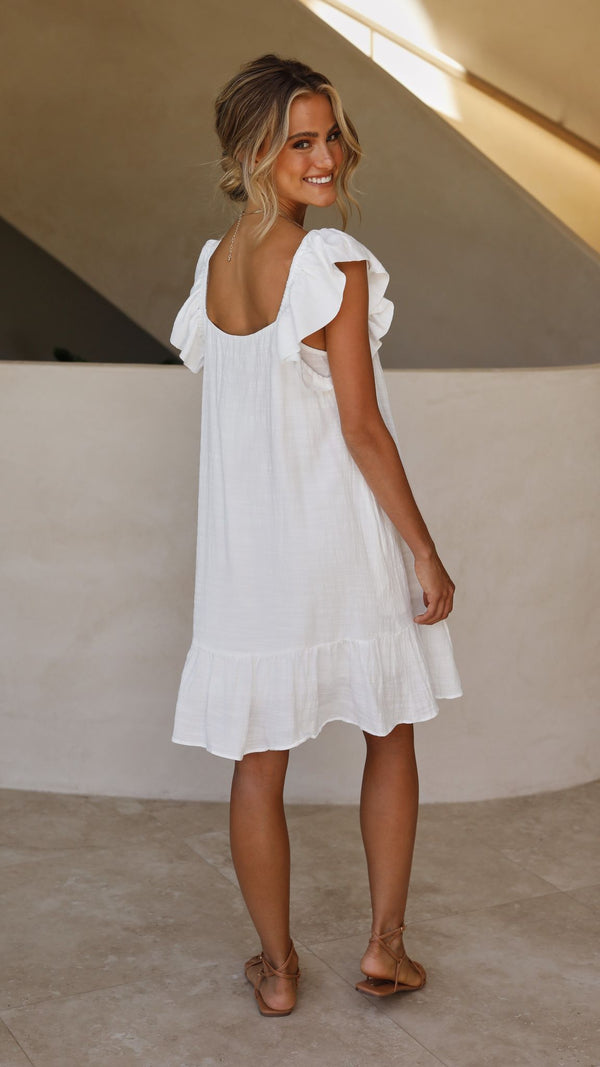 Jaida Dress -White