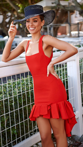 Moet Dress - Red