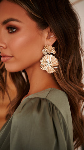 Eve Statement Earrings - Gold