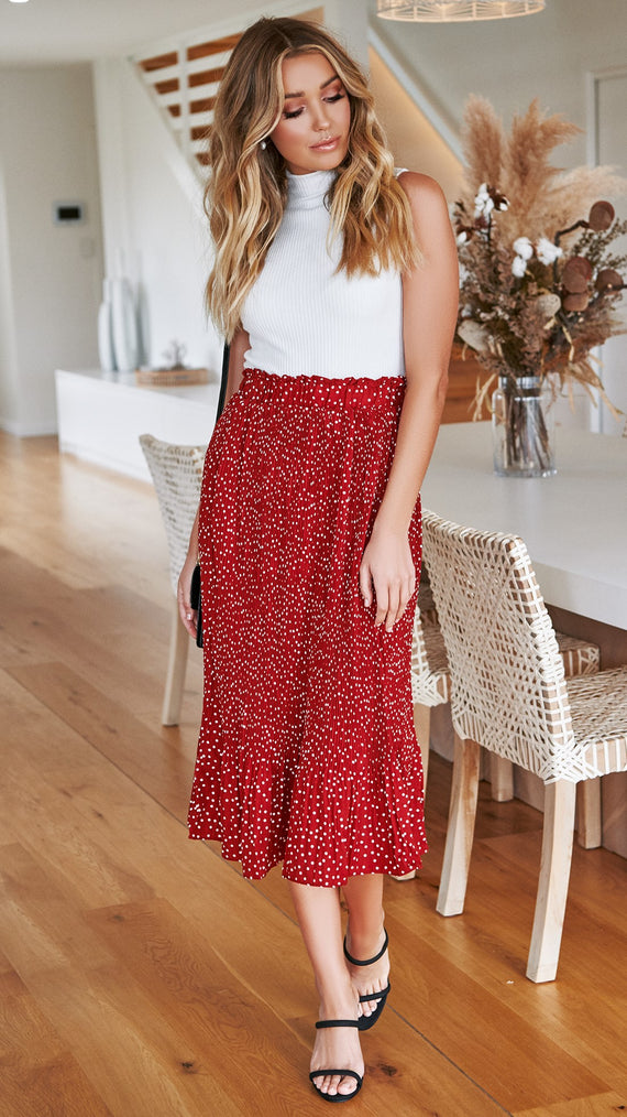 52ae2d63d4 This Moment Skirt - Ruby